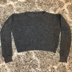 Brandy Melville Cropped Knit Sweater - One Size